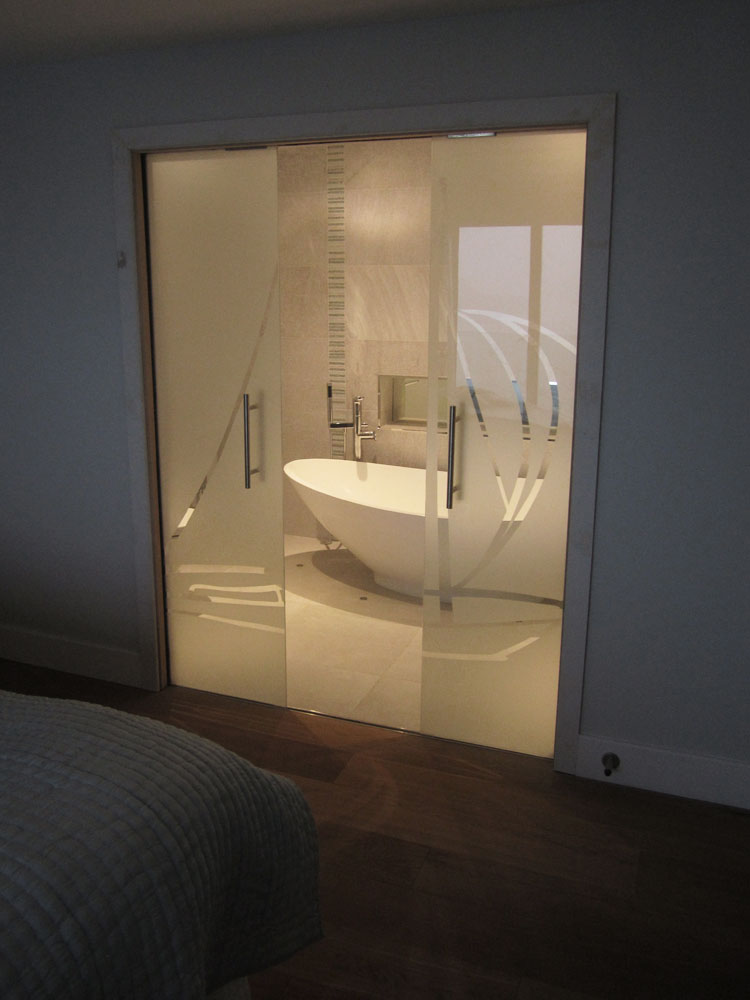Sliding Interior Frameless Glass Door, Kingswear, South Hams, Devon