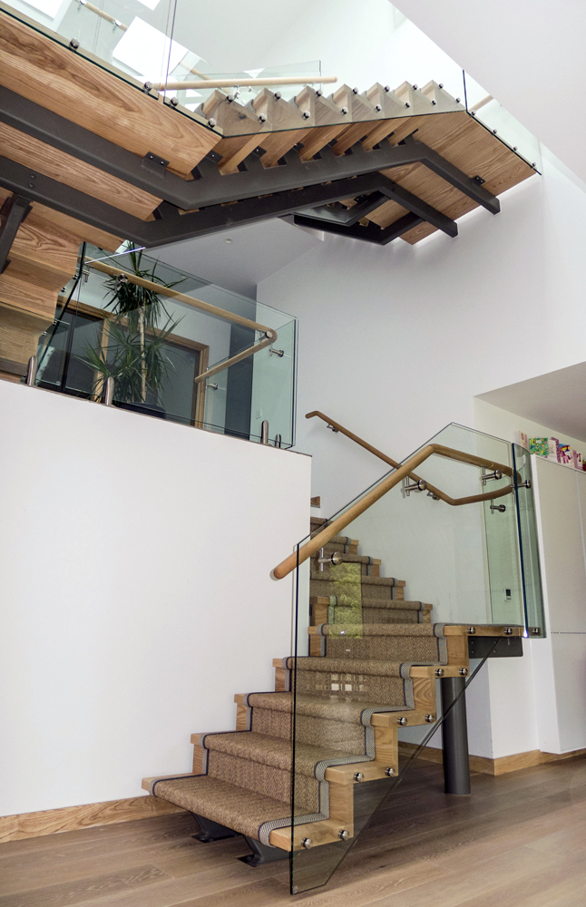 Veon glass bespoke structural glass solutions glass for European staircase design